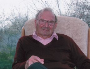 John Hick at home in 2006